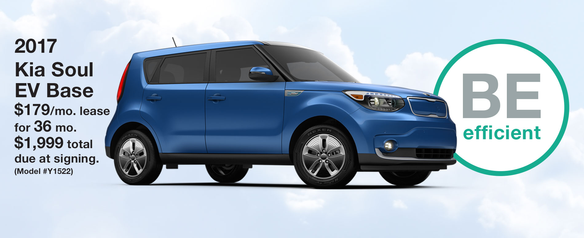 2017 Kia Soul EV Base Lease $179 per month for 36 months with $1,999 due at signing