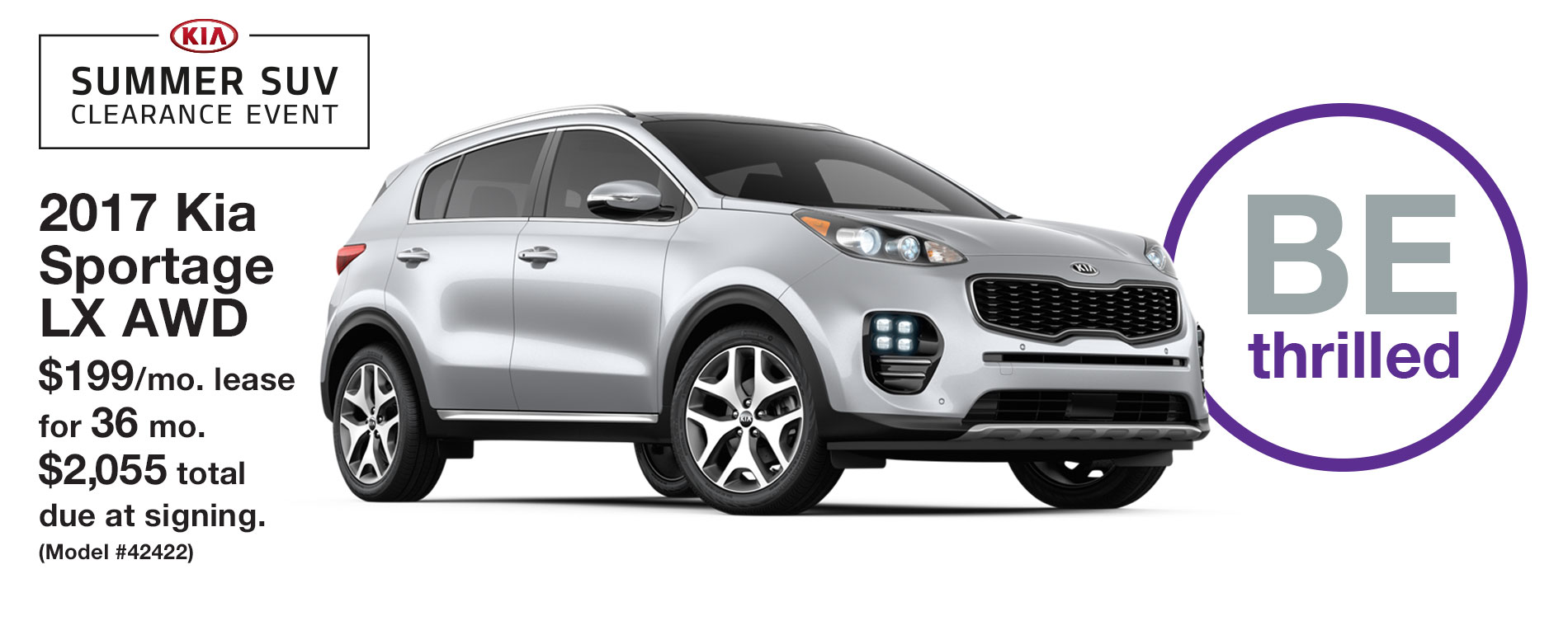 2017 Kia Sportage LX AWD Lease $199 per month for 36 months with $2,055 due at signing