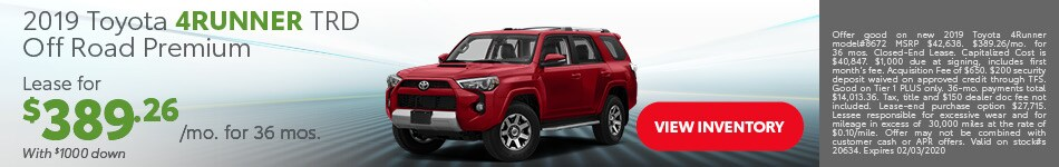 January 2019 Toyota 4Runner TRD Off Road Premium