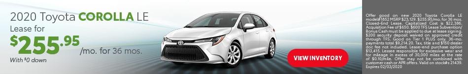 January 2020 Toyota Corolla LE