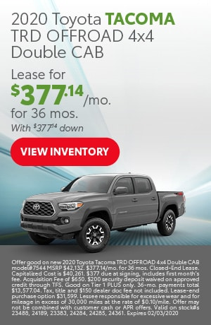 January 2020 Toyota Tacoma TRD OFFROAD 4x4 Double CAB