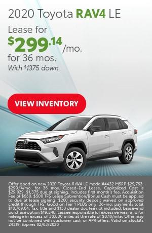 January 2020 Toyota RAV4 LE
