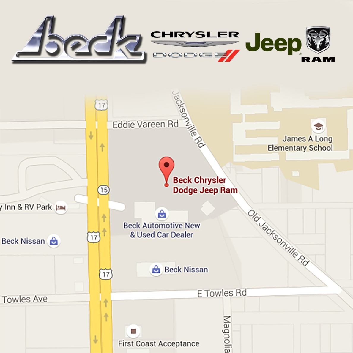 Palatka Florida Map.Beck Automotive Group New Dealership In Palatka Fl 32177 9606
