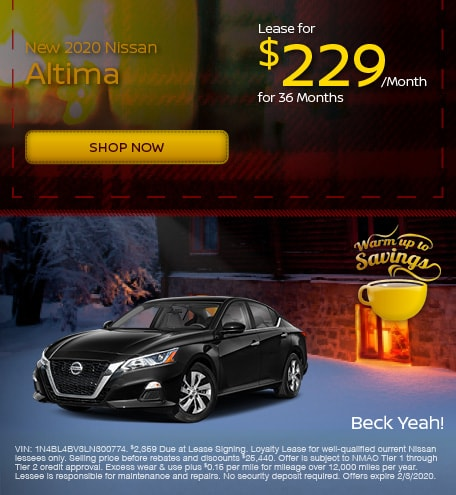 New 2020 Nissan Altima - January