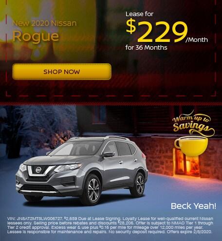 New 2020 Nissan Rogue - January