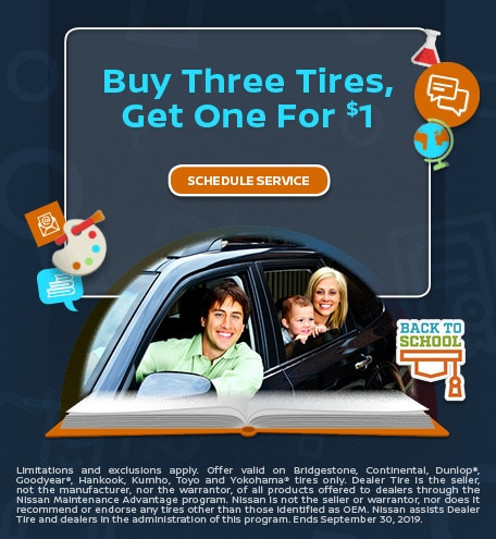 Buy Three Tires, Get One for $1