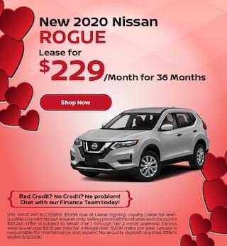 New 2020 Nissan Rogue - Feb