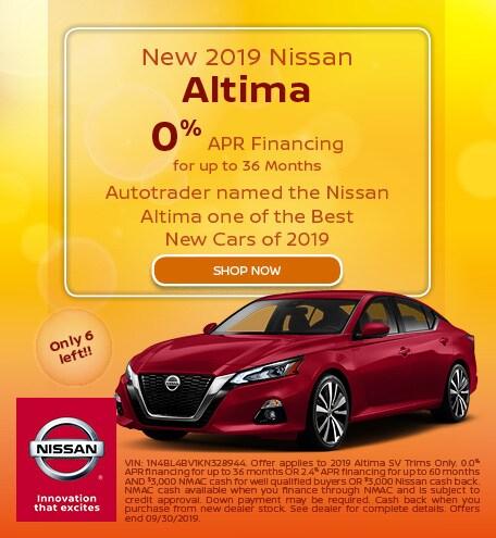New 2019 Nissan Altima - Sept '19