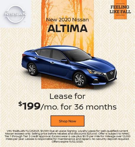 New 2020 Nissan Altima October