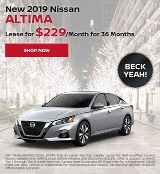 New 2019 Nissan Altima - Dec