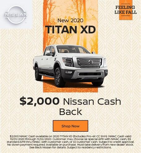 New 2020 Titan XD October