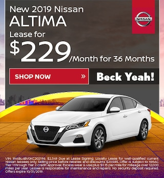 New 2019 Nissan Altima - Oct '19