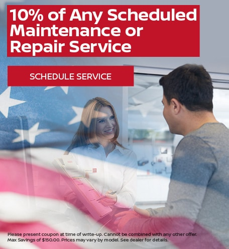 10% of Any Scheduled Maintenance or Repair Service
