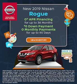 New 2019 Nissan Rogue - APR offer Aug '19