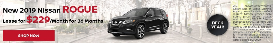 New 2019 Nissan Rogue - Dec