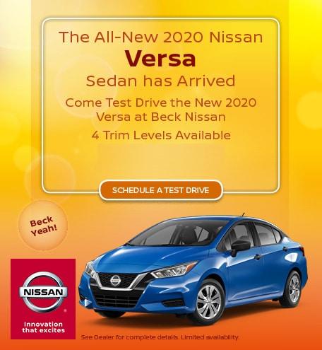 New 2020 Nissan Versa - Sept '19