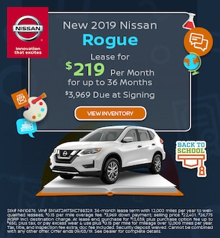 New 2019 Nissan Rogue - Lease offer Aug '19