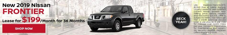 New 2019 Nissan Frontier - Dec
