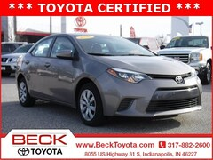Used 2016 Toyota Corolla LE Sedan For Sale in Indianapolis, IN