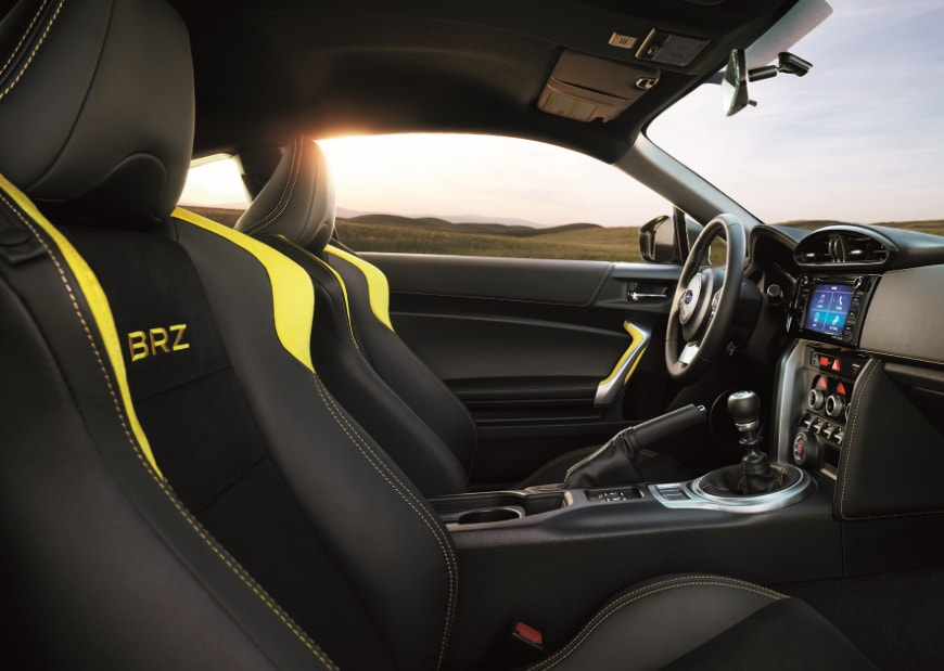 2017 Subaru BRZ Yellow Interior