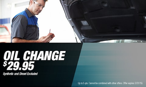 March - $29.95 Oil Change