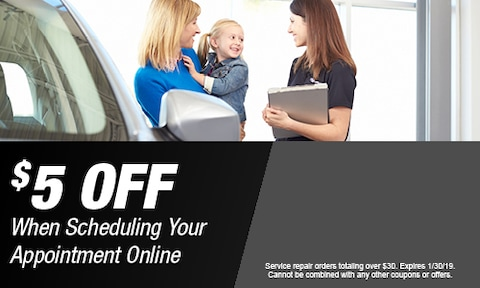 $5 OFF When Scheduling Your Appointment Online