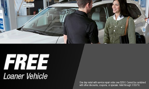 FREE Loaner Vehicle With Service Repair Over $350