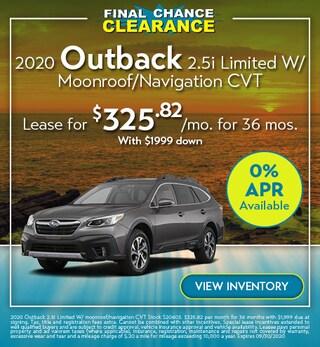 2020 Outback 2.5i Premium CVT