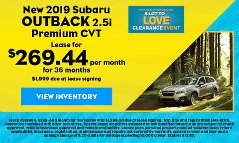 New 2019 Subaru Outback 2.5i Premium CVT