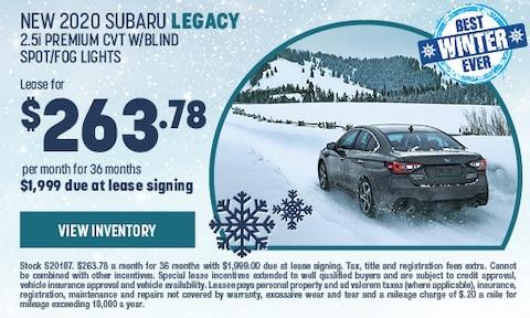 New 2020 Subaru Legacy 2.5i Premium CVT W/Blind spot/fog lights