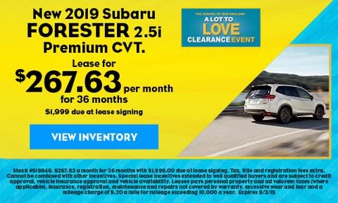 New 2019 Subaru Forester 2.5i Premium CVT.