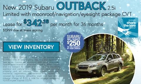 New 2019 Subaru Outback 2.5i Limited
