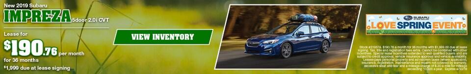 New 2019 Subaru Impreza 5door 2.0i CVT