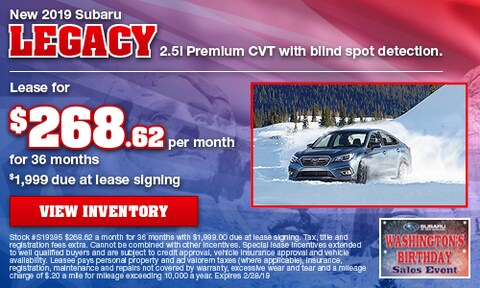 New 2019 Subaru Legacy 2.5i Premium CVT