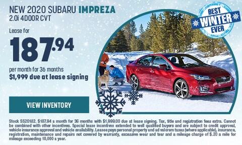 New 2020 Subaru Impreza 2.0i 4Door CVT