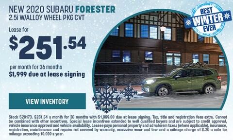 New 2020 Subaru Forester 2.5i w/Alloy Wheel PKG CVT