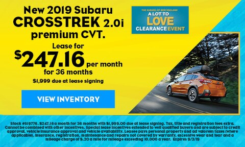 New 2019 Subaru Crosstrek 2.0i premium CVT.