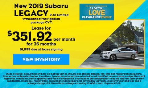 New 2019 Subaru Legacy 2.5i Limited