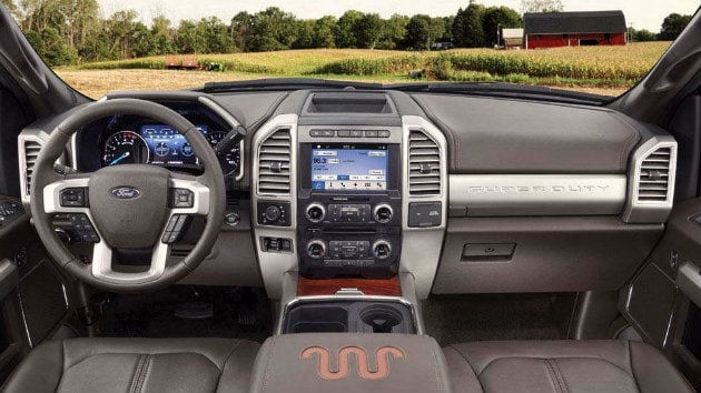 Interior of Ford Super Duty model near DeForest