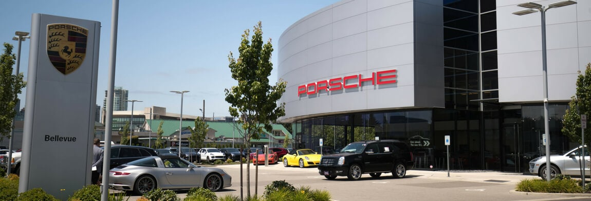 Exterior view of Porsche Bellevue during the day