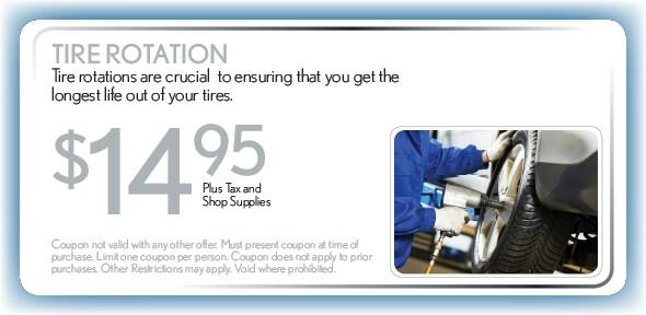 Tire Rotation Service Coupon Service Specials In Phoenix Az