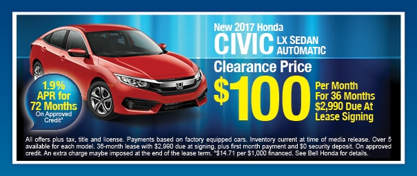 2017 Honda Civic for Lease in Phoenix
