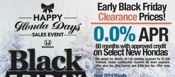 Black Friday New Honda Specials Phoenix Zero Percent Apr Offers On Some New Hondas