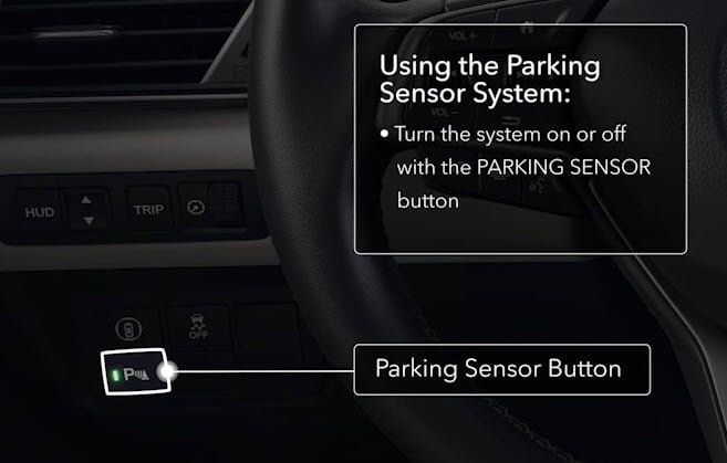Turning Honda Parking Sensing on or off