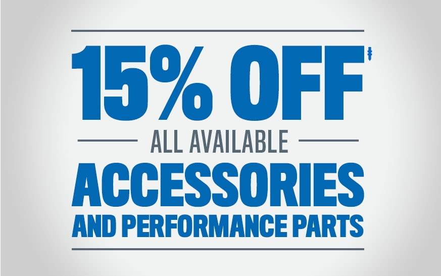 15% Off Alll Available Accessories & Performance Parts