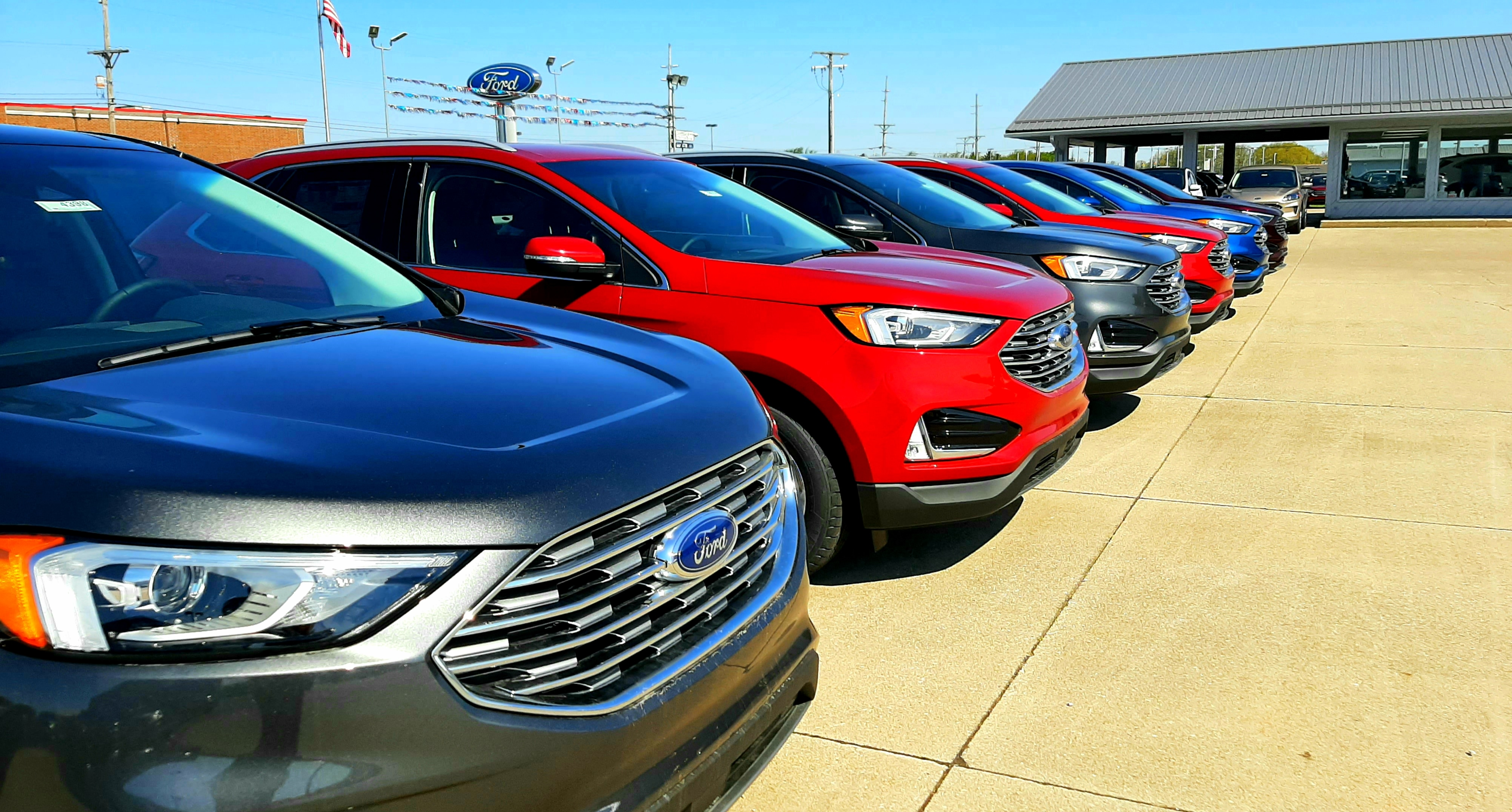 Red 2020 Ford Edge