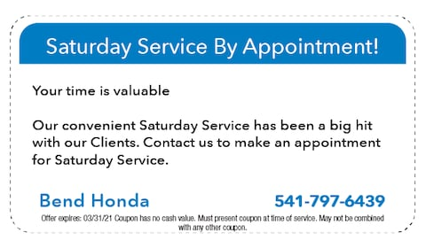 Saturday Service By Appointment!