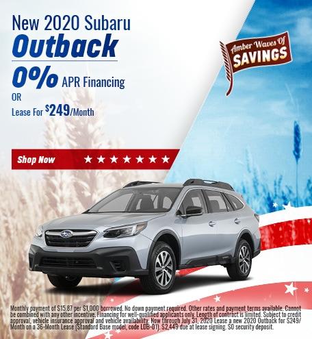 July - 2020 Subaru Outback