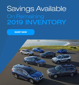 Savings Available on Remaining New 2019 Subaru Models