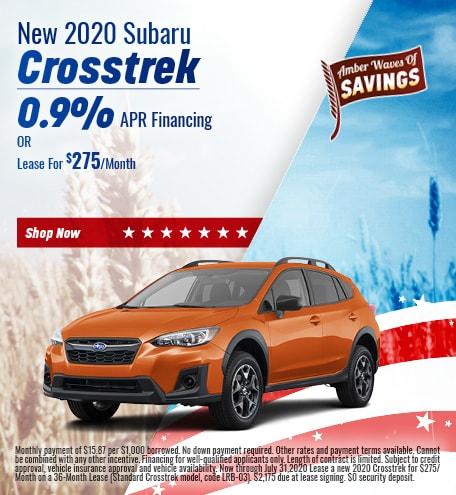 July - 2020 Subaru Crosstrek